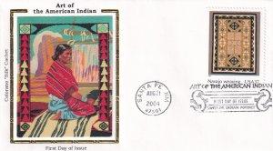 2004, American Indian Art, Colorano Silk, FDC (E12273)