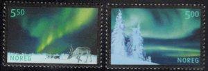 Norway Scott 1318-1319  MNH**  2001 Aurora Borealis set