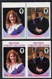British Virgin Islands 1986 Royal Wedding 35c se-tenant p...