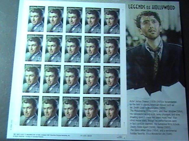 U.S.# 4197-MINT/NEVER HINGED--PANE OF 20-LEGENDS OF HOLLYWOOD/JAMES STEWART-2007