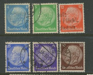STAMP STATION PERTH Germany #391-393,395-397 General Issue Used 1932