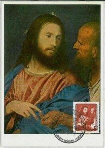 32690  -  GERMANY  DDR  - POSTAL HISTORY: MAXIMUM CARD  -  ART  Tiziano 1957