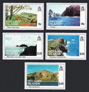 Pitcairn Island Views 5v SG#431-435 SC#384-388