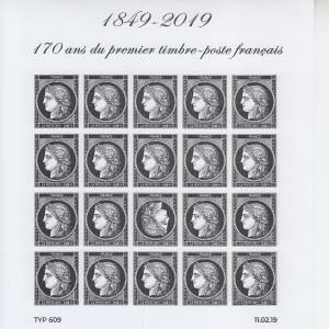 2019 France Black Ceres  MS20 (Scott NA) MNH