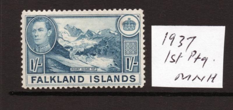 FALKLAND ISLANDS SG158 1/- 1937 1st printing MNH condition.