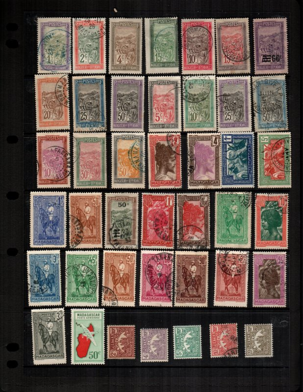 Madagascar  42 diff Used and mint  hinged