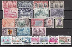 Sarawak Mint and used sets and better values (Catalog Value $109.00)