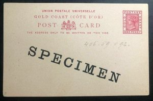 Mint Gold Coast Stationery postcard cover Specimen 1892