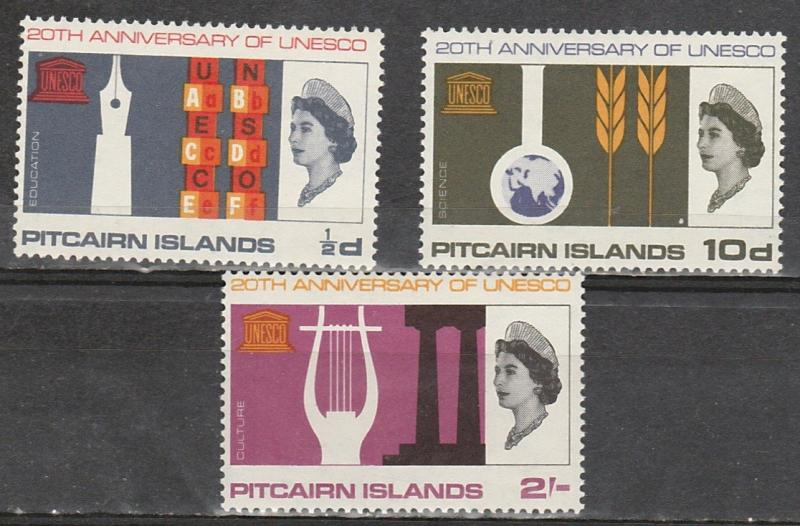 #64-66 Pitcairn Islands Mint OGNH