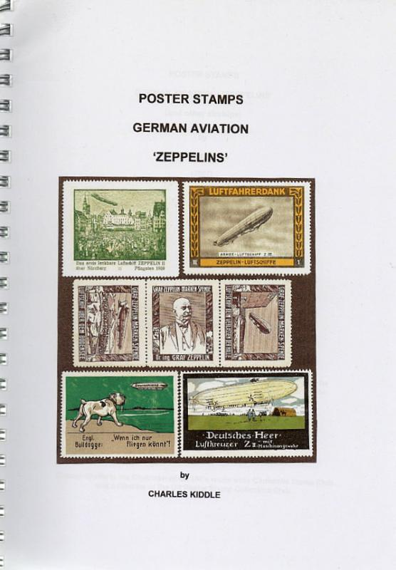 (I.B-CK) Cinderella Catalogue : Poster Stamps : German Aviation (Zeppelin