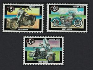 Aruba Harley Davidson Motorcycles 3v SG#424-426