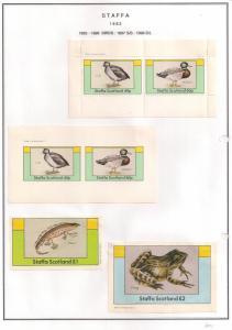 SCOTLAND - STAFFA - 1982 - Birds #7 - Perf, Imp 2v, Souv, D/L Sheets - MLH