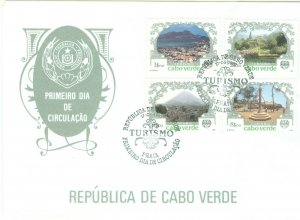 1c Gems Cape Verde  #506-9 cacheted unaddressed FDC