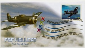 AO-3918-1, 2005, American Advances in Aviation, F6F Hellcat, DCP, Add On Cachet,