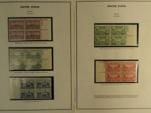 USPS Scott 785-89 Army Issue 1936-37 Lot Of 5 Plate Block...