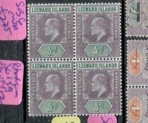 LEEWARD ISLANDS (P2308BB) KE  1/2D  SG 20  BL OF 4   MNH