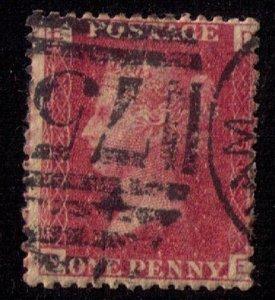 GREAT BRITAIN Scott #33 (plate 150) 1p Red F-VF
