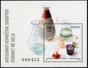 HERRICKSTAMP NEW ISSUES ALBANIA Sc.# 3007 National Craft 2017 Glass Works S/S