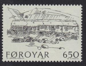 Faroe Islands 1987 MNH Farm buildings 650 ore   #