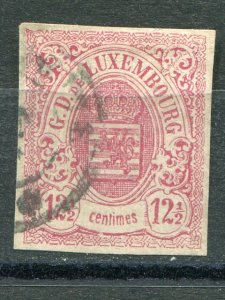 Luxembourg  #8  used  F-VF  signed     Lakeshore Philatelics