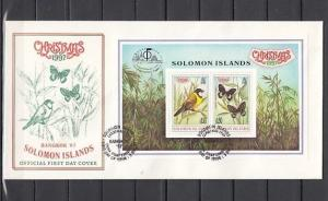 Solomon Is., Scott cat. 861. Bird & Butterfly on Christmas. First Day Cover.