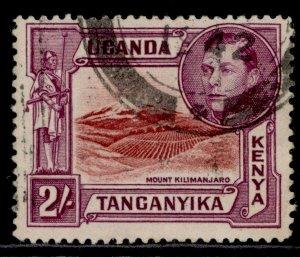 KENYA UGANDA TANGANYIKA GVI SG146a, 1a black & brown, FINE USED. Cat £20 PERF 14