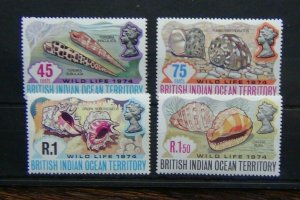 British Indian Ocean Territory 1974 Wildlife 2nd Series set MNH
