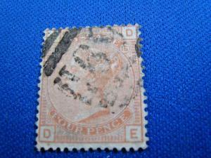 GREAT BRITAIN  -  SCOTT #69  -  Used      (brig)