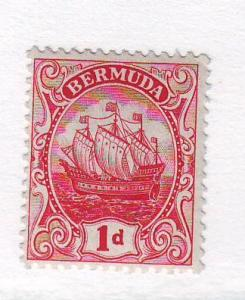 Bermuda Sc 42 1910 1d red Caravel stamp mint