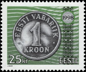 Estonia 1998 #345 MNH. Coin