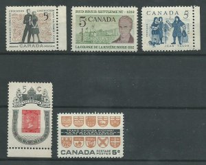 Canada  396-400  Mint NH VF   PD 1962