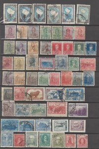 COLLECTION LOT # 17L ARGENTINA 58 STAMPS CLEARANCE