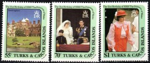 Turks And Caicos #531-3  MNH CV $4.00 (X6832)