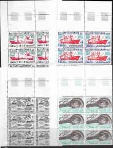 Antarctica FSAT 69-75 vf MNH set in block of 6, see desc. CV$74.10
