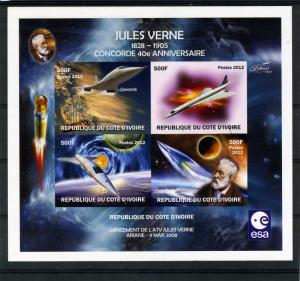 SPACE Jules Verne-Concorde Deluxe Sheet Ungummed Mint (NH)