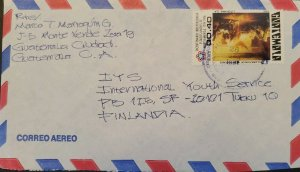 A) 1976, GUATEMALA, CIRCULATED COVER TO FINLAND, BICENTENNIAL OF THE INDEPENDENC