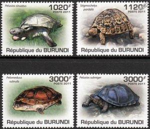 Burundi MNH 897-900 Turtles 2011 SCV 12.00