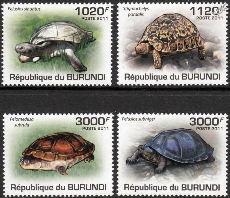 Burundi MNH 897-900 Turtles 2011 SCV 13.00