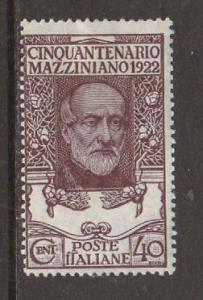 Italy Sc 141 MLH. 1922 40c violet brown Mazzini F-VF