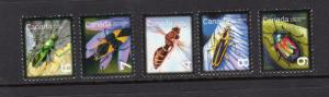 Canada #2406-2410  mnh..Insects