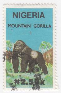 Nigeria, 574, Used, 1990, Mountain Gorilla