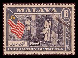 Federation of Malaya 80 Used VF
