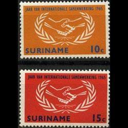 SURINAM 1965 - Scott# 317-8 Intl.Coop.Year Set of 2 LH