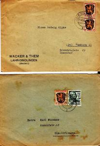 Germany - Two French Zone Covers