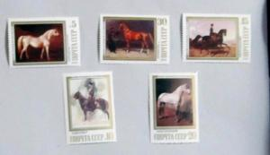 Russia - 5694-98, MNH Set. Equestrian Paintings. SCV - $2.35