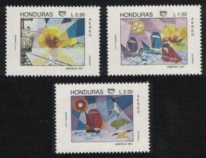 Honduras Ships Discovery of America UPAEP 3v 1991 MNH SG#1163-1165