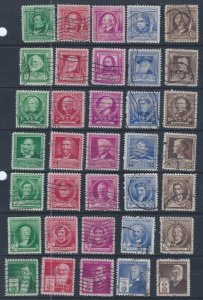 U.S. #859-893  SCV $16.05  STARTS AT A LOW PRICE!
