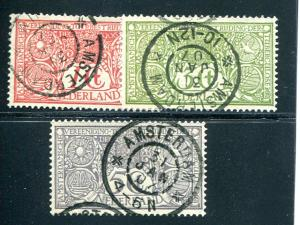 Netherlands #B1-3  used  VF    - Lakeshore Philatelics