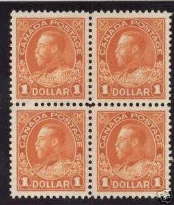 Canada #122 XF/NH Block  **With Certificate**