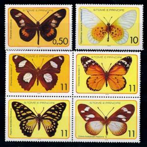 [65677] Sao Tome & Principe 1979 Butterflies MLH
